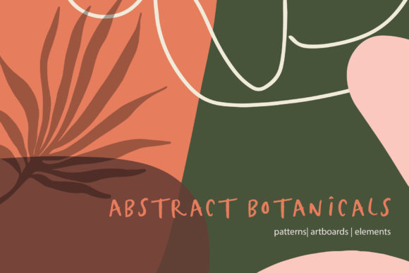 Abstract Botanical Patterns Graphic Patterns By Sweet Fig