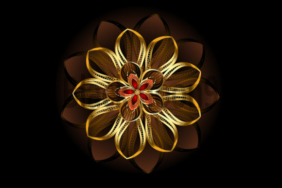 Abstract Brown Flower Graphic Illustrations By Blackmoon9