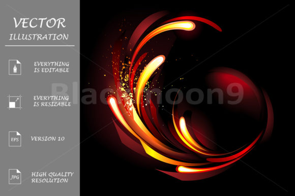 Abstract Fire Background Graphic Illustrations By Blackmoon9