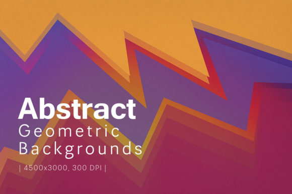 Print on Demand: Abstract Geometric Backgrounds Graphic Backgrounds By freezerondigital