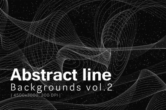 Print on Demand: Abstract Line Backgrounds 2 Graphic Backgrounds By freezerondigital