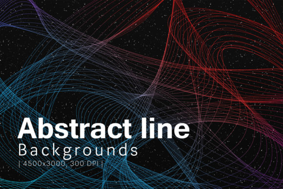 Print on Demand: Abstract Line Backgrounds Graphic Backgrounds By freezerondigital