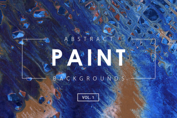 Print on Demand: Abstract Paint Backgrounds 1 Graphic Backgrounds By ArtistMef