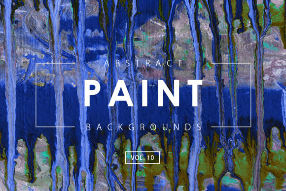 Print on Demand: Abstract Paint Backgrounds 10 Graphic Backgrounds By ArtistMef