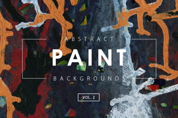Print on Demand: Abstract Paint Backgrounds 2 Graphic Backgrounds By ArtistMef