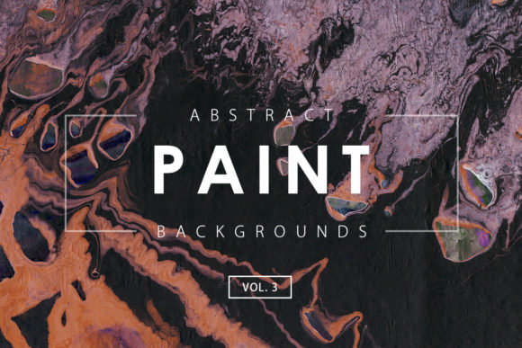 Print on Demand: Abstract Paint Backgrounds 3 Graphic Backgrounds By ArtistMef