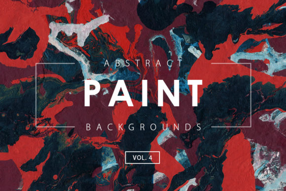 Print on Demand: Abstract Paint Backgrounds 4 Graphic Backgrounds By ArtistMef