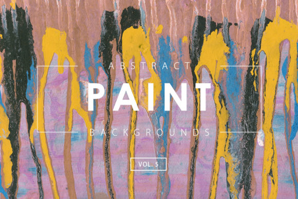 Print on Demand: Abstract Paint Backgrounds 5 Graphic Backgrounds By ArtistMef