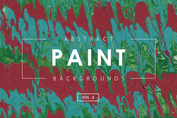 Print on Demand: Abstract Paint Backgrounds 6 Graphic Backgrounds By ArtistMef