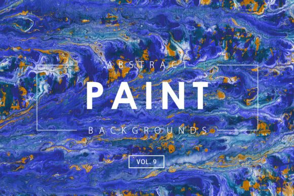 Print on Demand: Abstract Paint Backgrounds 9 Graphic Backgrounds By ArtistMef