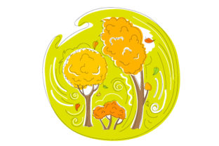 Abstract Print Style Colorful Trees Fall Craft Cut File By Creative Fabrica Crafts