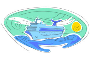 Abstract Print Style Cruise Ship Craft Design By Creative Fabrica Crafts