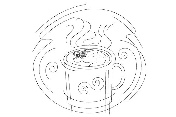 Abstract Print Style Hot Drink Fall Craft Cut File By Creative Fabrica Crafts - Image 2