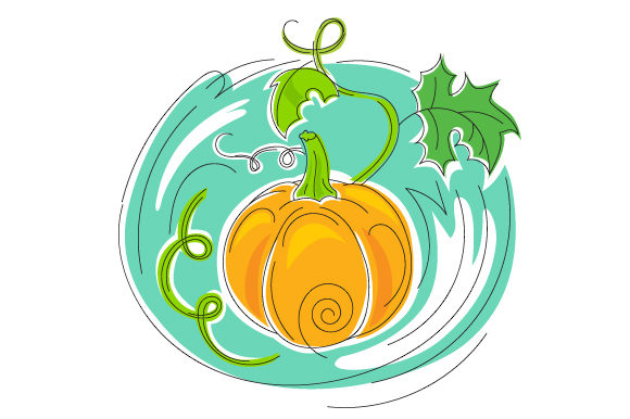 Download Free Abstract Print Style Pumpkin Svg Cut File By Creative Fabrica for Cricut Explore, Silhouette and other cutting machines.
