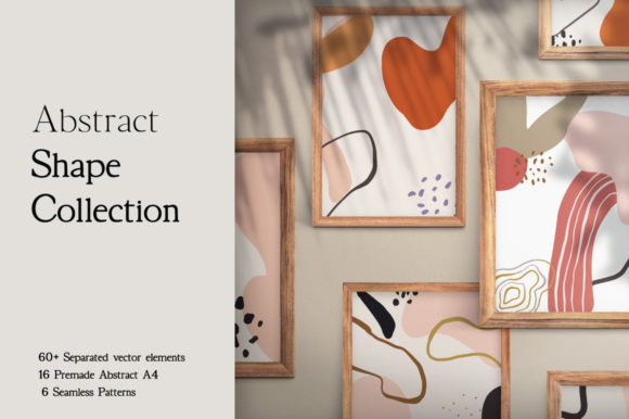 Print on Demand: Abstract Shape Collection Graphic Patterns By Digital Hustler