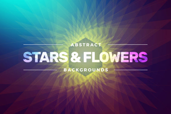 Abstract Stars & Flowers Backgrounds Graphic Backgrounds By Shemul