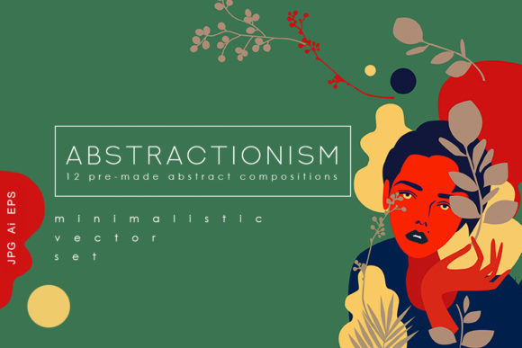 Abstractionism Graphic Set Graphic Print Templates By NassyArt