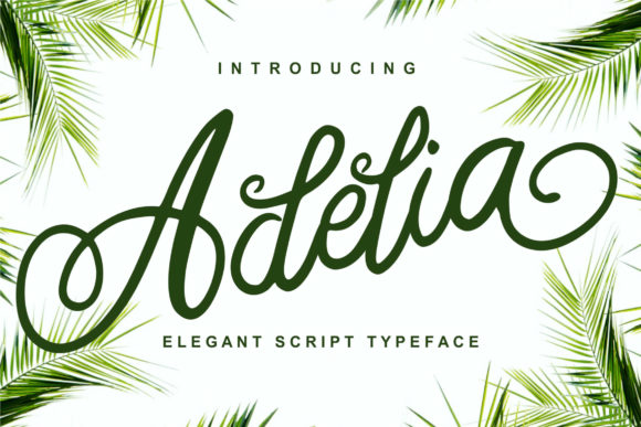 Print on Demand: Adelia Script & Handwritten Font By Ian Mikraz