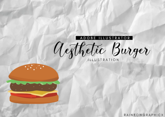 Aesthetic Burger Graphic By RainbowGraphicx