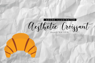 Aesthetic Croissant Graphic By RainbowGraphicx