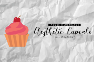Aesthetic Cupcake Illustration Graphic By RainbowGraphicx