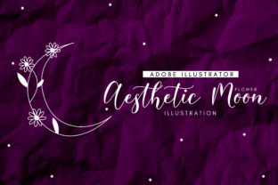 Aesthetic Flower Moon Graphic By RainbowGraphicx