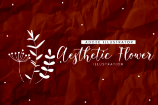Print on Demand: Aesthetic Flowers Graphic Illustrations By RainbowGraphicx
