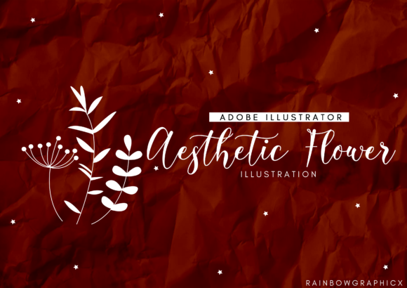 Download Free Aesthetic Flowers Graphic By Rainbowgraphicx Creative Fabrica for Cricut Explore, Silhouette and other cutting machines.