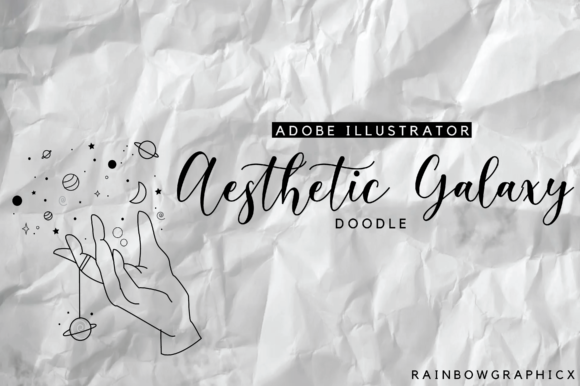 Print on Demand: Aesthetic Galaxy Hand. Graphic Illustrations By RainbowGraphicx