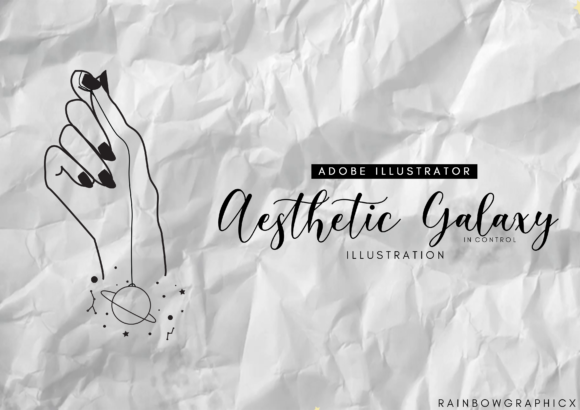 Print on Demand: Aesthetic Galaxy in Control Graphic Illustrations By RainbowGraphicx  - Image 1