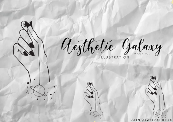 Print on Demand: Aesthetic Galaxy in Control Graphic Illustrations By RainbowGraphicx  - Image 2