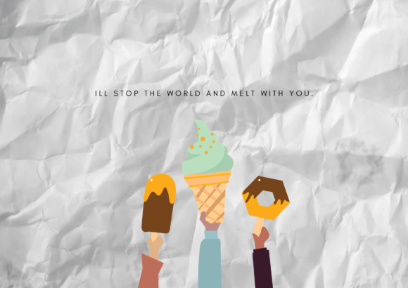 Download Free Aesthetic Holding Ice Cream Graphic By Rainbowgraphicx for Cricut Explore, Silhouette and other cutting machines.