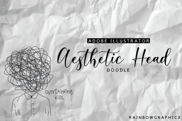 Print on Demand: Aesthetic Overthinking Doodle Graphic Illustrations By RainbowGraphicx