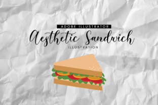 Aesthetic Sandwich Illustration Graphic By RainbowGraphicx