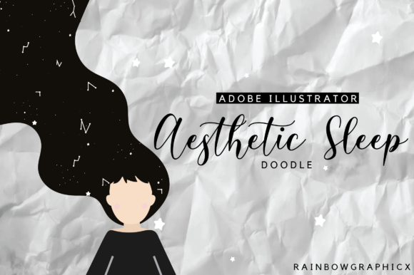 Aesthetic Sleep Doodle Graphic By Rainbowgraphicx Creative Fabrica
