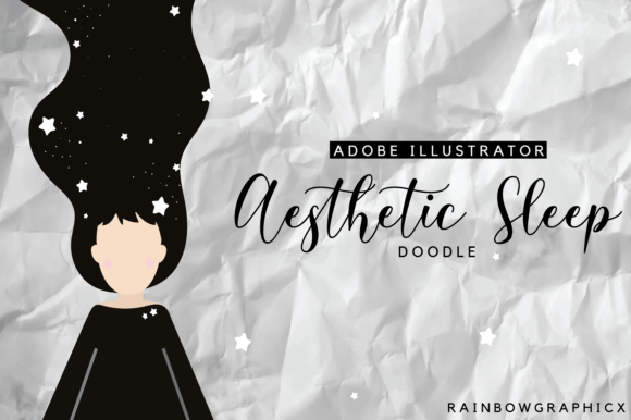 Print on Demand: Aesthetic Sleep  (Straight) Doodle Graphic Illustrations By RainbowGraphicx
