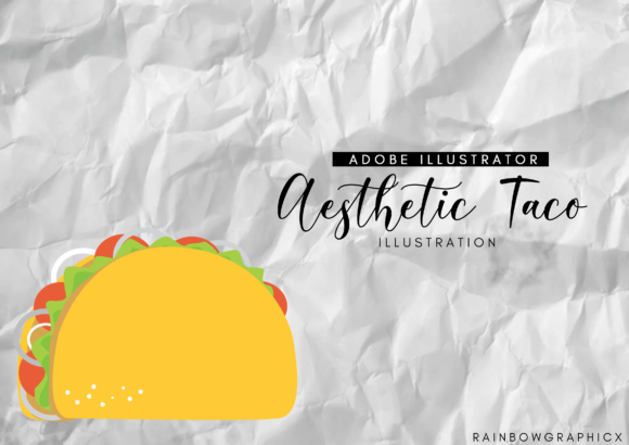 Print on Demand: Aesthetic Taco Graphic Illustrations By RainbowGraphicx  - Image 1