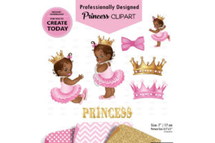 African American Baby Girl Pink and Gold Graphic By adlydigital