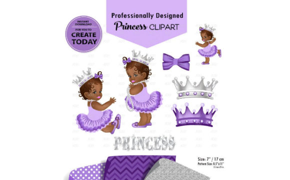 African American Babygirl Clipart Purple Graphic By adlydigital