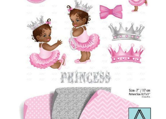 Download Free African American Girl Pink Gray Clipart Graphic By Adlydigital for Cricut Explore, Silhouette and other cutting machines.