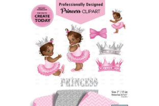 African American Girl Pink Gray Clipart Graphic By adlydigital