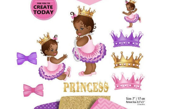 Print on Demand: African Princess Clip Art in Purple Pink Graphic Illustrations By adlydigital - Image 2