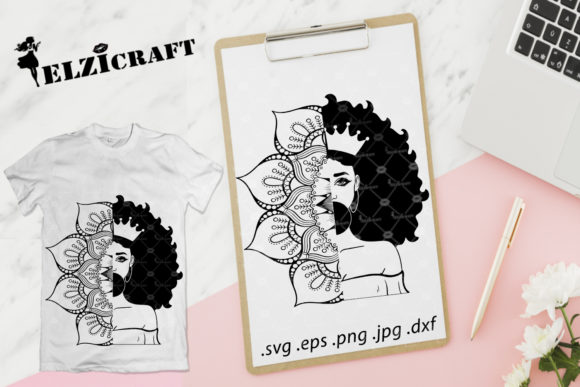 Download Free Nurse Afro Woman Stethoscope Silhouette Graphic By Elzicraft for Cricut Explore, Silhouette and other cutting machines.