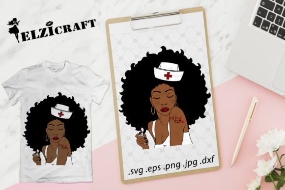 Download Free Afro Woman Nurse Life Design Graphic By Elzicraft Creative Fabrica SVG Cut Files