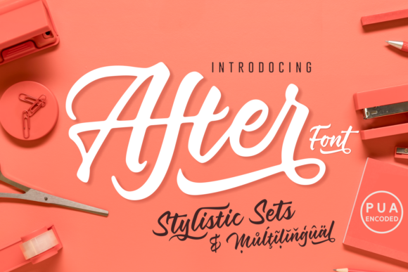 Print on Demand: After Script & Handwritten Font By Situjuh