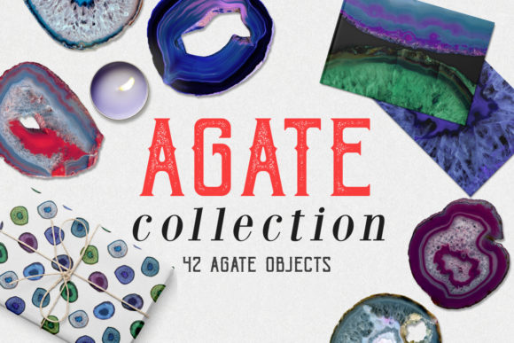Print on Demand: Agate Collection Graphic Objects By freezerondigital
