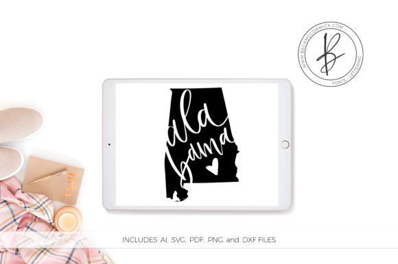 Print on Demand: Alabama Heart Graphic Crafts By BeckMcCormick