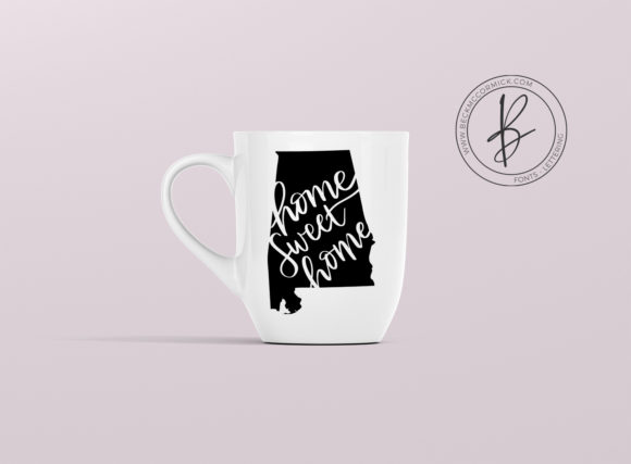 Download Free Alabama Home Sweet Home Graphic By Beckmccormick Creative Fabrica for Cricut Explore, Silhouette and other cutting machines.