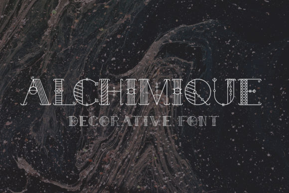 Print on Demand: Alchimique Display Font By Craft-N-Cuts