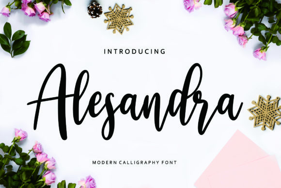 Print on Demand: Alesandra Script & Handwritten Font By CreatypeStudio